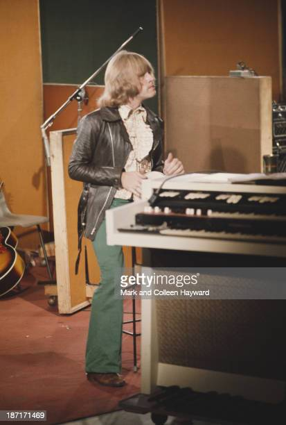 Brian Jones from The Rolling Stones during recording of the track 'Sympathy for the Devil' at Olympic Studios in Barnes London 10th June 1968