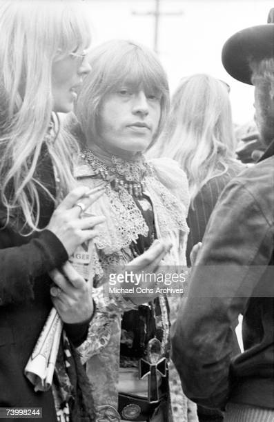 Brian Jones of The Rolling Stones with Christa Paeffgen in the audience at the Monterey Pop Festival on June 18 1967 in Monterey California
