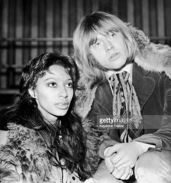 Brian Jones With Donyale Luna In The Shooting Of Rolling Stones' Rock N' Roll Circus Show December 1968