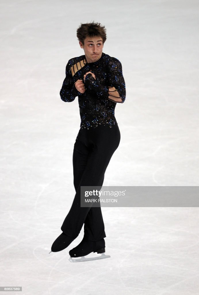 Brian Joubert from France performs durin : News Photo