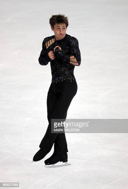 Brian Joubert from France performs during the Men Free Skating event of the 2009 World Figure skating Championships at the Staples Center in Los...