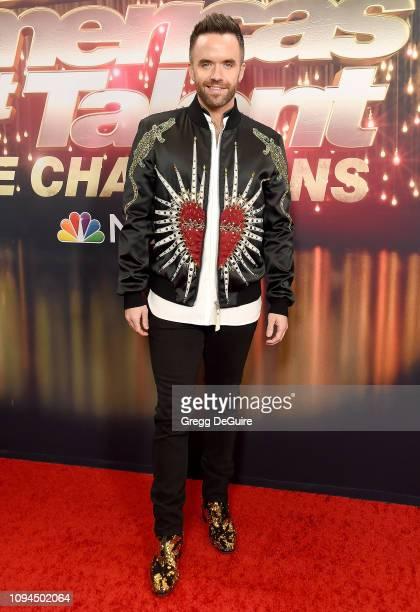 Brian Justin Crum arrives at America's Got Talent The Champions Finale at Pasadena Civic Auditorium on October 17 2018 in Pasadena California