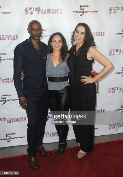 Brian Keith Gamble Maria Pasquarelli and Morgan Lariah arrives for the Cast And Crew Screening Of 5th Passenger held at TCL Chinese 6 Theatres on...