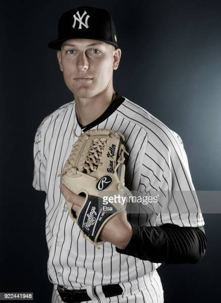 Brian Keller of the New York Yankees poses for a portrait during the New York Yankees photo day on February 21 2018 at George M Steinbrenner Field in...