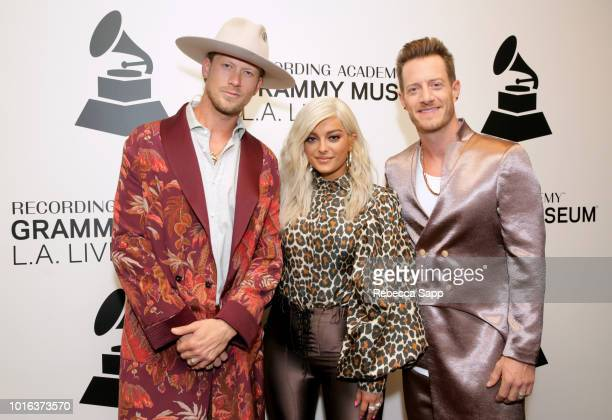 Brian Kelley and Tyler Hubbard of Florida Georgia Line and Bebe Rexha attend Meant to Be Bebe Rexha Florida Georgia Line at the GRAMMY Museum on...