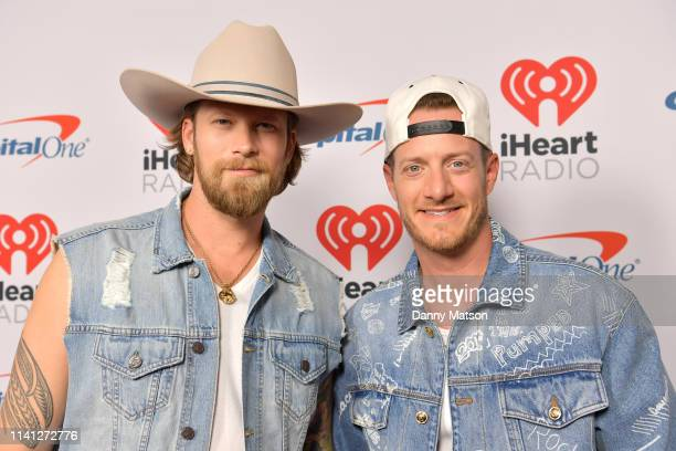 Brian Kelley and Tyler Hubbard of Florida Georgia Line arrive at the 2019 iHeartCountry Festival Presented by Capital One at the Frank Erwin Center...