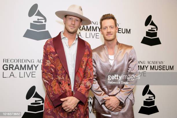 Brian Kelley and Tyler Hubbard of Florida Georgia Line attend Meant to Be Bebe Rexha Florida Georgia Line at the GRAMMY Museum on August 13 2018 in...