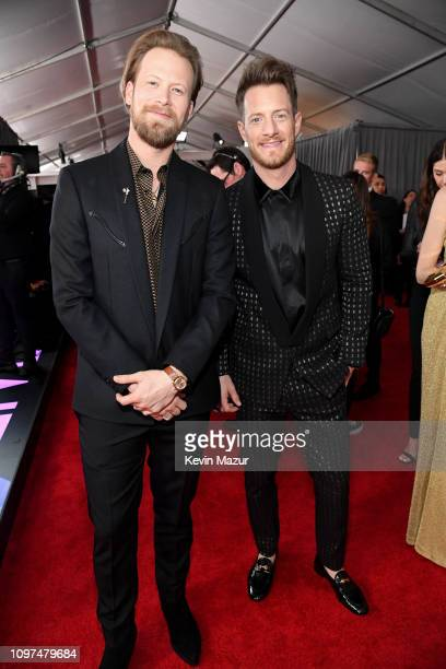 Brian Kelley and Tyler Hubbard of Florida Georgia Line attend the 61st Annual GRAMMY Awards at Staples Center on February 10 2019 in Los Angeles...