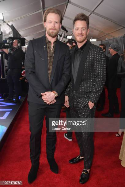 Brian Kelley and Tyler Hubbard of 'Florida Georgia Line' attend the 61st Annual GRAMMY Awards at Staples Center on February 10 2019 in Los Angeles...