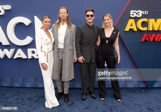 Brian Kelley and Tyler Hubbard of Florida Georgia Line attend the 53rd Academy of Country Music Awards at MGM Grand Garden Arena on April 15 2018 in...