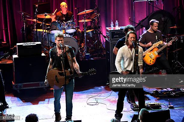 Brian Kelley and Tyler Hubbard of Florida Georgia Line perform onstage as Live Nation Celebrates National Concert Day At Their 2015 Summer Spotlight...
