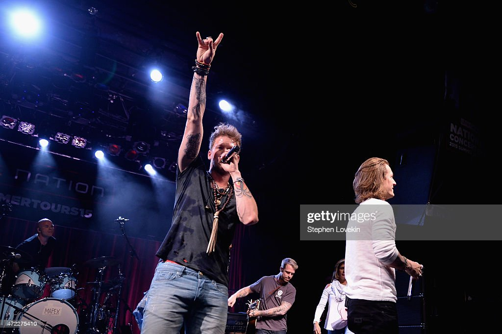 Brian Kelley (L) and Tyler Hubbard of Florida Georgia Line perform as Live Nation Celebrates National Concert Day At Their 2015 Summer Spotlight Event Presented By Hilton at Irving Plaza on May 5, 2015 in New York City.
