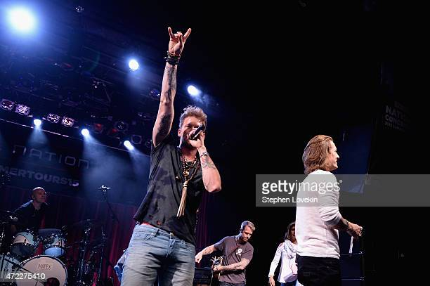 Brian Kelley and Tyler Hubbard of Florida Georgia Line perform as Live Nation Celebrates National Concert Day At Their 2015 Summer Spotlight Event...
