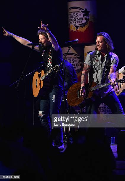 Brian Kelley and Tyler Hubbard of Florida Georgia Line perform during the 9th annual Stars For Second Harvest Benefit at Ryman Auditorium on June 3,...
