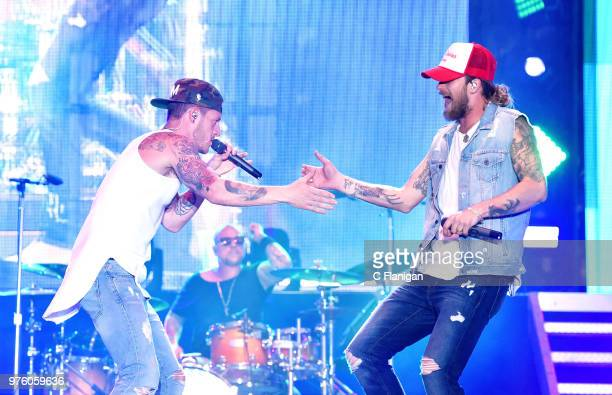 Brian Kelley and Tyler Hubbard of Florida Georgia Line perform during the 2018 Country Summer Music Festival at Sonoma County Fairgrounds on June 15...