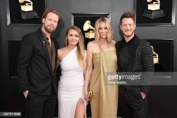 Brian Kelley Brittney Marie Cole Hayley Stommel and Tyler Hubbard attend the 61st Annual GRAMMY Awards at Staples Center on February 10 2019 in Los...