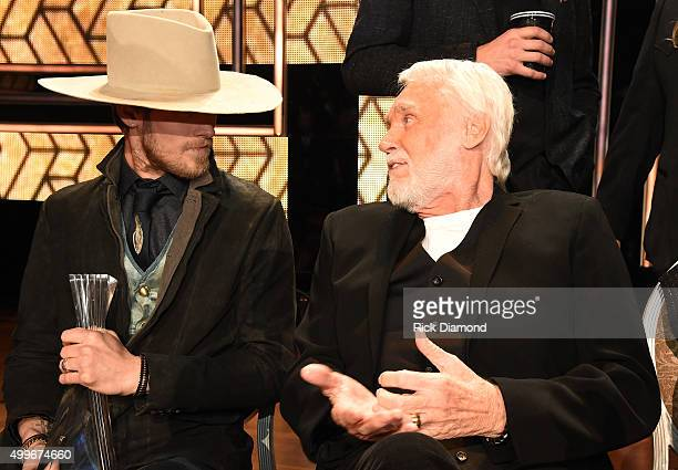 Brian Kelley of Florida Georgia Line and singersongwriter Kenny Rogers attend the 2015 CMT Artists of the Year at Schermerhorn Symphony Center on...