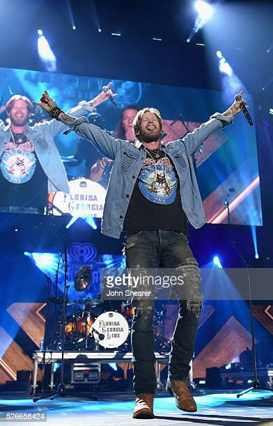 Brian Kelley of Florida Georgia Line performs onstage during the 2016 iHeartCountry Festival at The Frank Erwin Center on April 30 2016 in Austin...