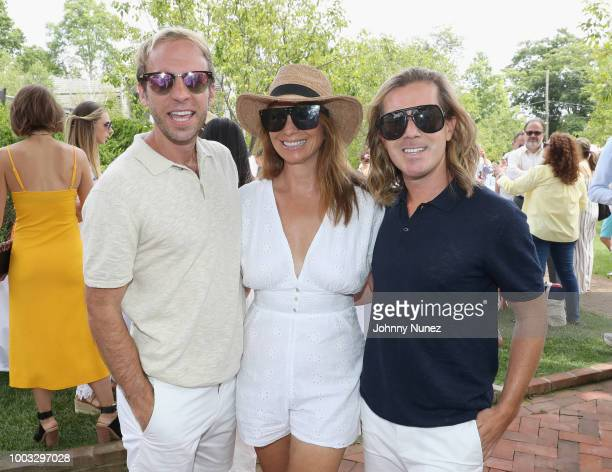 Brian Kelly, Jill Zarin and Sean Koski attend The Inaugural Hamptons Interactive Influencer Brunch Hosted By East End Taste Produced By Ticket2Events...