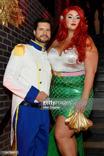 Brian Keys and Hunter McGrady attend Heidi Klum's 20th Annual Halloween Party presented by Amazon Prime Video and SVEDKA Vodka at Cathédrale New York...