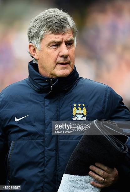 Brian Kidd assistant manager of Manchester City walks out during the Barclays Premier League match between Crystal Palace and Manchester City at...