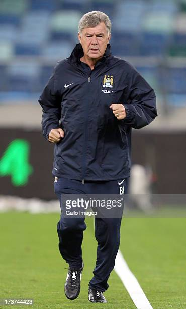 Brian Kidd of Manchester City during the Manchester City training session at Moses Mabhida Stadium on July 17 2013 in Durban South Africa