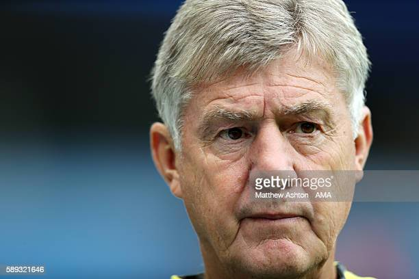 Brian Kidd the coassistant coach of Manchester City during the Premier League match between Manchester City and Sunderland at Etihad Stadium on...