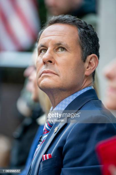 """Brian Kilmeade attends the """"Fox & Friends"""" naturalization ceremony for Veterans Day at Fox News Channel Studios on November 11, 2019 in New York City."""