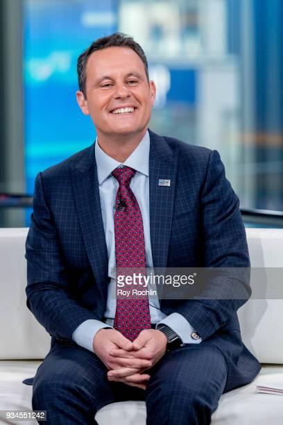 Brian Kilmeade of Fox Friends to discuss 'Maroln Bundo's a day in the life of The Vice President' with Charlotte and Karen Pence at Fox News Studios...