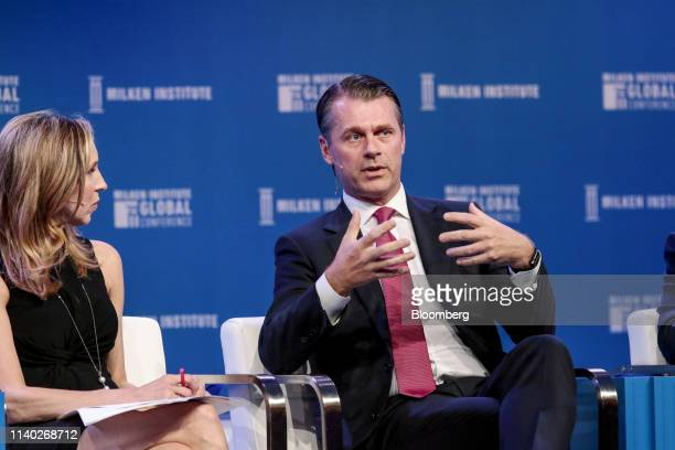 Brian Kingston, chief executive officer of Brookfield Property Partners LP, speaks during the Milken Institute Global Conference in Beverly Hills,...