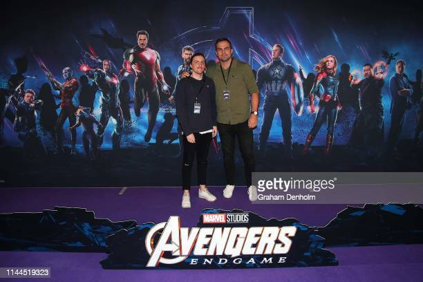 Brian Lake poses ahead of the special screening of Marvel Studios' Avengers Endgame at IMAX Melbourne Museum on April 23 2019 in Melbourne Australia