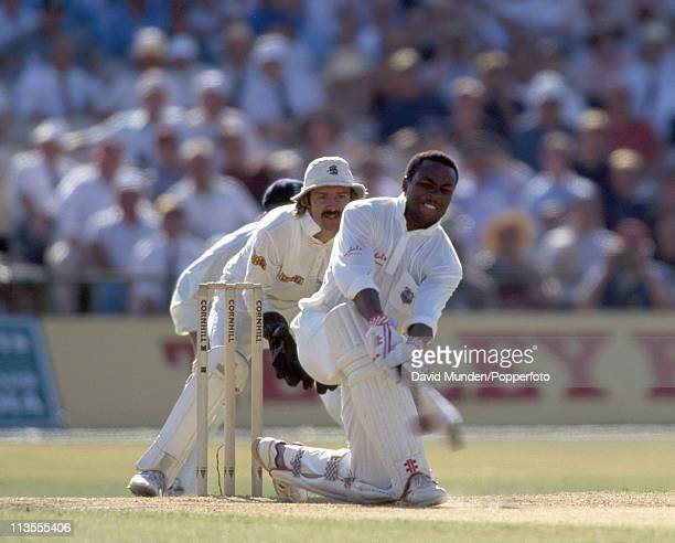 Brian Lara batting for the West Indies during the 4th Test match against England at Old Trafford Manchester on the 30th July 1995 The England...