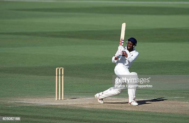 Brian Lara batting for Warwickshire during his innings of 501 not out in the County Championship match between Warwickshire and Durham at Edgbaston,...