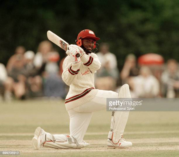 Brian Lara batting for West Indies during the tour match between Minor Counties and West Indians at Sonning Lane, Reading, 13th July 1995. Minor...