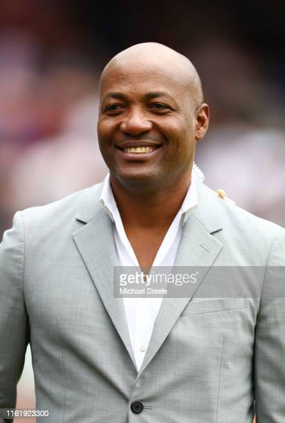 Brian Lara during the Final of the ICC Cricket World Cup 2019 between New Zealand and England at Lord's Cricket Ground on July 14, 2019 in London,...