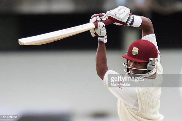 Brian Lara of the West Indies in action during day one of the third test match between New Zealand and the West Indies at McLean Park March 25, 2006...