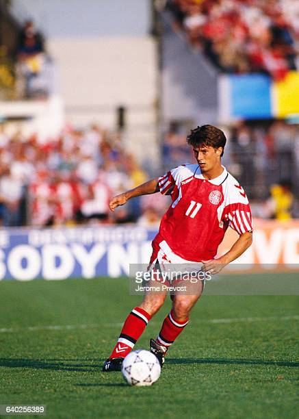 Brian Laudrup in action during the final of the UEFA Euro 1992 against Germany Denmark won 20