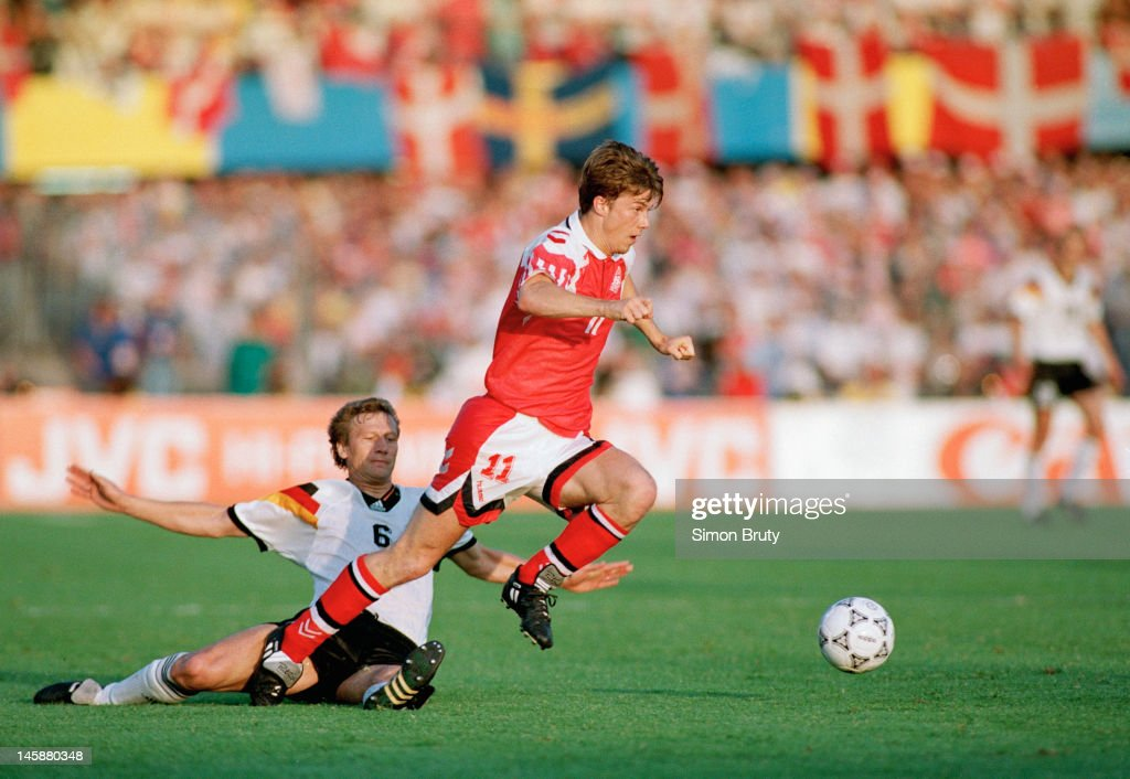 UEFA Euro '92 FINAL - Denmark v Germany : News Photo
