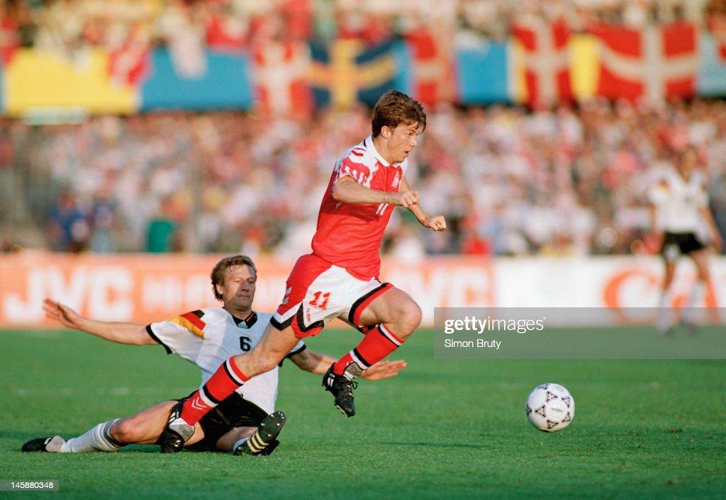 UEFA Euro '92 FINAL - Denmark v Germany : News Photo