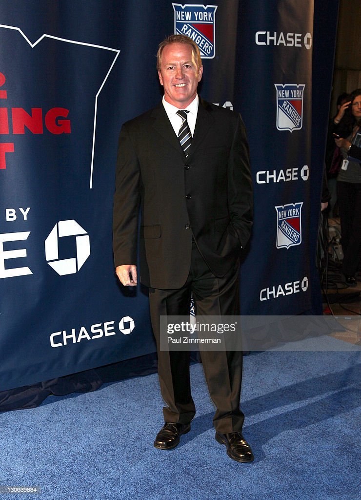 Brian Leetch attends the New York Rangers home opener at Madison Square Garden on October 27, 2011 in New York City.