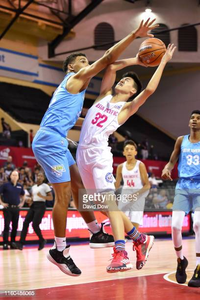 Brian Leonard of Asia Pacific Boys goes to the basket against Latin America Boys during the Jr NBA Global Championship Quarterfinals on August 9 2019...