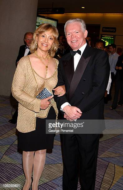 Brian Linehan and guest during 2003 18th Annual Gemini Awards - Pre Party at Metro Toronto Convention Centre in Toronto, Ontario, Canada.
