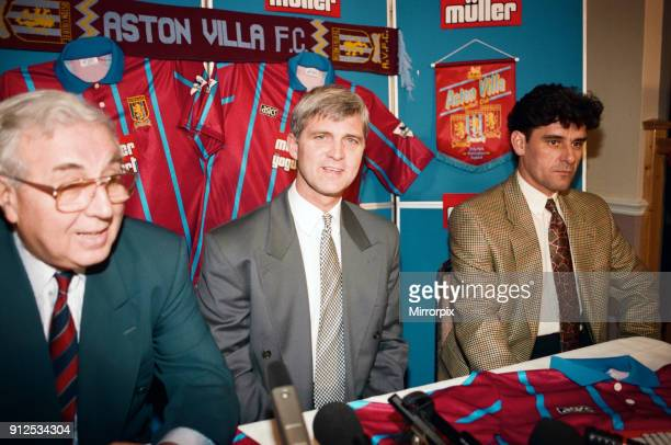Brian Little is unveiled as Aston Villa's new manager He is pictured with Doug Ellis and his assistant at Leicester John Gregory 24th November 1994