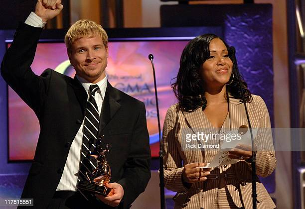 Brian Littrell and Cheryl Salt Wray during 37th Annual GMA Music Awards Show at Grand Ole Opry in Nashville TN United States