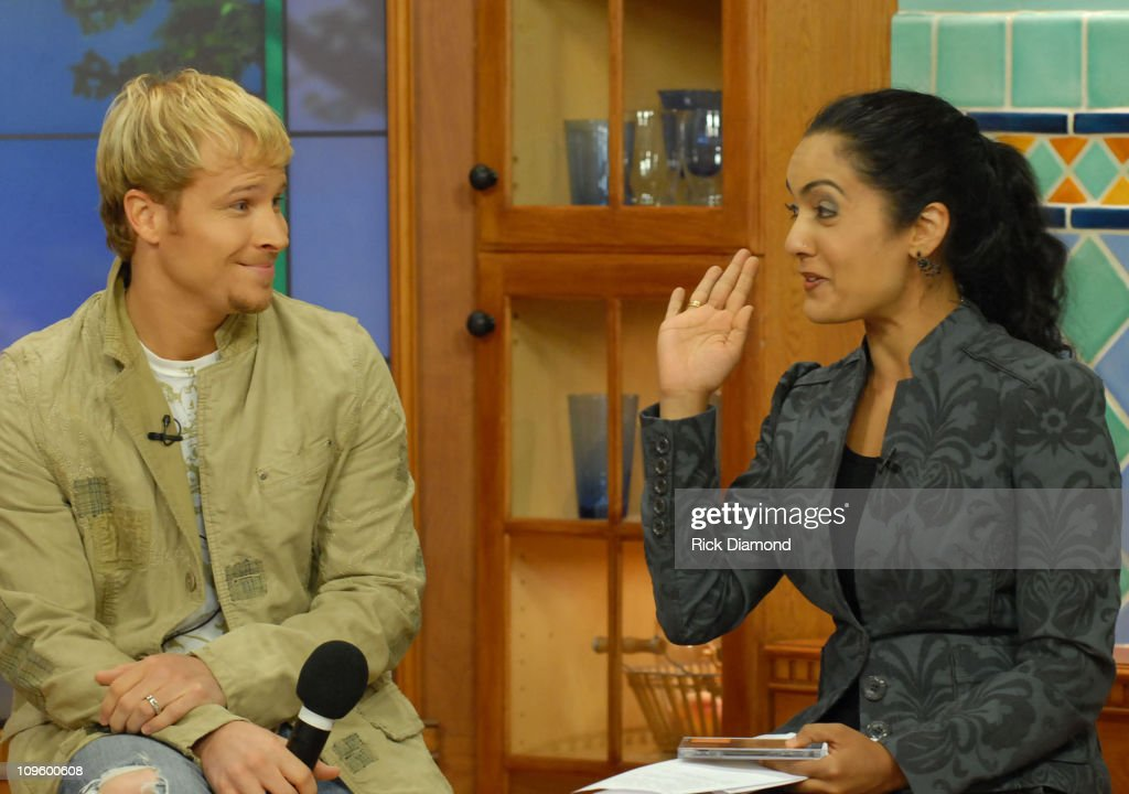 Brian Littrell and Good Day Atlanta Host, Suchita Vadlamani