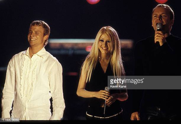 Brian Littrell Christina Aguilera and Sting perform