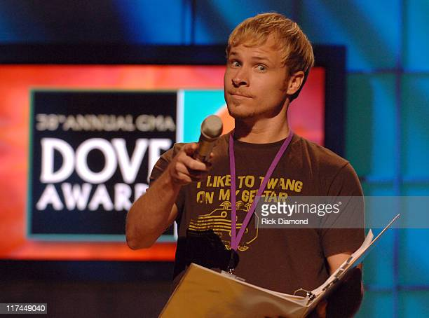 Brian Littrell during 38th Annual GMA DOVE Awards Dress Rehearsal at Grand Old Opry in Nashville Tennessee United States