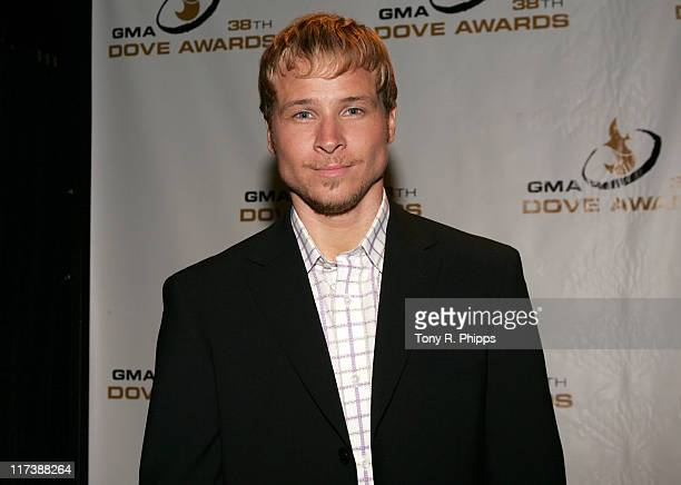 Brian Littrell during 38th Annual GMA DOVE Awards Press Room at Grand Old Opry in Nashville United States United States