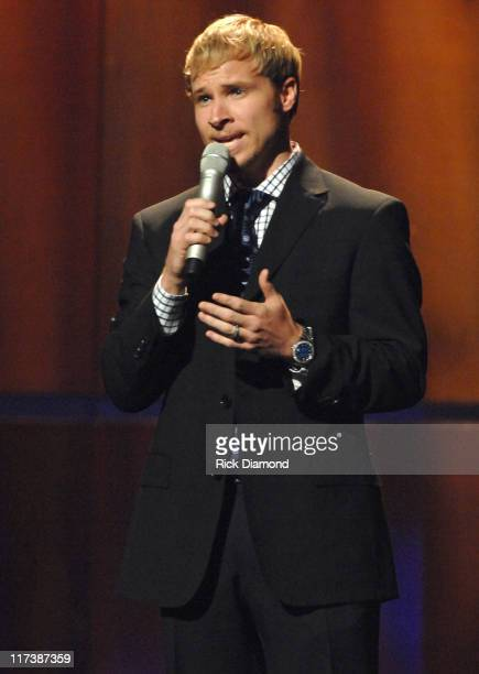 Brian Littrell during 38th Annual GMA DOVE Awards Show at Grand Old Opry in Nashville Tennessee United States