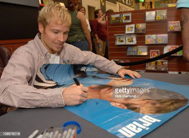 Brian Littrell during Brian Littrell Release Party for New Album Welcome Home at LifeWay Christian Book Store May 2 2006 at LifeWay Christian Book...